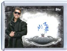 WWE The Miz 2015 Topps Undisputed Black Authentic On Card Autograph SN 2 of 50