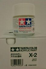 Tamiya acrylic paint X-2 White. 23ml.