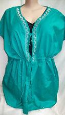 Autograph Emerald + silver embroidery + beads Swimsuit cover up top jacket 20