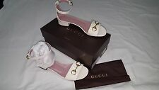 GUCCI SHOES SANDALS OFF WHITE SIZE 10