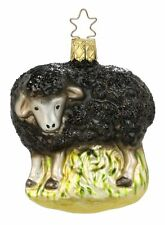 "Inge Glas ""The Black Sheep"" Glass Ornament - Made in Germany (#258)"