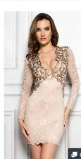 Holt Miami Heaven In Nude Gold Dress NWT Size Medium $379
