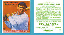 1933 Goudey Reprint #149 Babe Ruth Card - New York Yankees