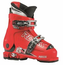 ROCES adjustable size Ski boots 6 in 1 IDEA Children's 30-35 red black Buckles