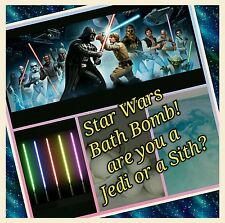 Star Wars lightsaber Bath Bomb Sith or Jedi ? 3 x Ultra Lush assorted scent WOW