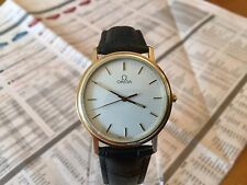 OMEGA CLASSIC DE VILLE MENS QUARTZ GENTS 1980's VINTAGE LEATHER STRAP CAL 1417