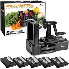 U.S. Kitchen Spiral Master Vegetable Cutter, 5 Stainless Steel Slicer Blades Cut