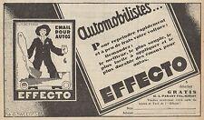 Y7296 Email pour autos EFFECTO - Pubblicità d'epoca - 1928 Old advertising