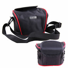 Black Nylon Camera Shoulder Waist Case Bag For Olympus SZ-17 XZ-1 SH-2 /STYLUS 1