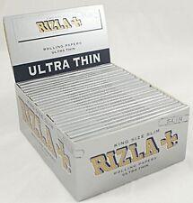 RIZLA KING SIZE ULTRASLIM SILVER CIGARETTE ROLLING PAPER SEALED  50 BOOKLETS
