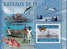 Fishing Boats of North Freeze Fish fishes Togo 2010 s/s Mi. Bl.557 MNH #TG10418b