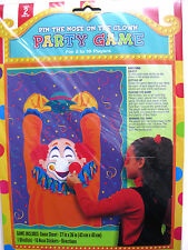 PIN THE NOSE ON THE CLOWN PARTY GAME BIRTHDAY CARNIVAL CHILDS KIDS CIRCUS FUN