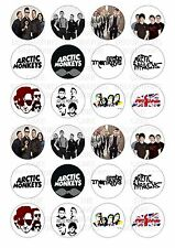 24 Artic Monkeys Wafer / Rice Paper Cupcake Topper Edible Fairy Cake Bun Toppers