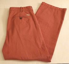 IZOD Nantucket Red Saltwater Pants Chinos Straight Legged 100% Cotton Mens 34x30