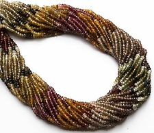 """Natural Top Quality Multicolor Tundra Sapphire 3MM Rondelle Facet Bead 13"""""""