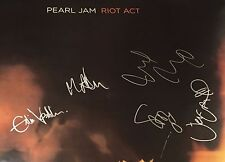 PEARL JAM SIGNED AUTOGRAPH RIOT ACT 24x36 POSTER EDDIE VEDDER +4 w/VIDEO PROOF