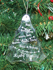 Personalized Crystal Christmas Tree Christmas Ornament Custom Gift