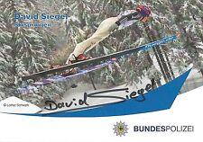 Autogramm David Siegel Skisprung Skispringen Deutscher Meister 13 Bundespolizei