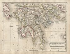 1826 ANTIQUE MAP BUTLER ANCIENT PELOPONNESUS & GRACIA MERIDIONALIS