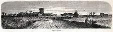 Ostia Antica: Panorama. Costumi. Roma. Agro Romano. Lazio. Stampa Antica. 1860