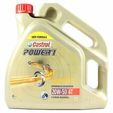 Castrol Power 1 4T 20w-50 Motorcycle 4 Stroke Engine Oil 20w50 - 4 Litres 4L