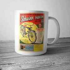 Vintage Schwinn Phantom Bicycle Advertisement Comic Ad on NEW Coffee Mug Cup
