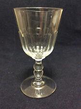 Vierzon H 15,3cm verre à eau cristal taillé côtes plates XIXe Louis-Philippe