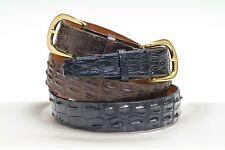 Saltwater Hornback Custom handmade crocodile belt (Size 32-44)