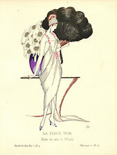 Gazette Du Bon Ton LA FLEUR D'OR Zyg Brunner Fashion POCHOIR Art Deco