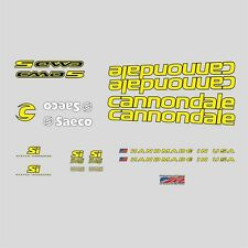 Cannondale CAAD5 Bicycle Decals, Transfers, Stickers: Yellow n.7