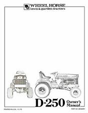 Wheel Horse D250 Owners Manual