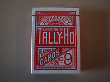TALLY-HO CIRCLE BACK RED DECK OF PLAYING CARDS BY USPCC POKER SIZE MAGIC TRICKS