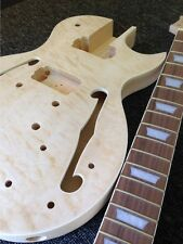 DIY Guitar Kit - Guitar Kit Hollow Body LP Archtop Quilted Maple – Gold Hardware