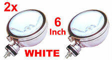 "2X 6"" WHITE Angel Eye Halogen H3 Spotlights Spot Fog Light For Car Van Scooter"