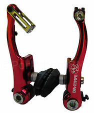Dia-Compe MX2 MX-2 VC-733 V-brake bicycle brake for BMX or MTB - RED ANODIZED