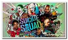 12x21inch Movie Silk Poster Suicide Squad Full Cast Heroes Wall Door Decals New