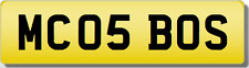 MC MCO THE BOSS!! X5 530 520 525 535 Private CHERISHED Registration Number Plate