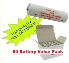 60 AA Batteries Alkaline 1.5v 60 Pack Lot LR6