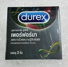 Durex Performa Extra Safe Smooth Condom with Benzocaine 5% Lubricated Latex 52mm