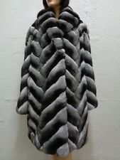 BRAND NEW CANADIAN RANCHED CHINCHILLA FUR JACKET COAT WOMEN WOMAN CUSTOM MADE
