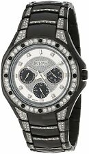 Bulova Men's 98C102 Black Crystal Bracelet Watch