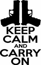 """8"""" Keep Calm and Carry On  Vinyl Decal """"Sticker"""" For Car or Truck Windows, Lapto"""