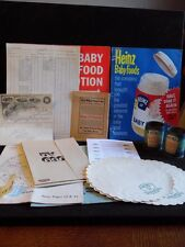 Vintage Lot Of Heinz Ephemera Promotional Flyers, Receipts ,Baby Food Cans