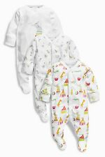ВNWT NEXT Baby Playsuits Outfit • Bright Circus Print Sleepsuits Cotton • 3-6 m