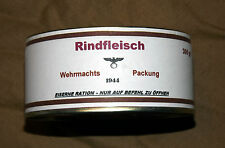 WEHRMACHT RATION - canned corned beef 1944 - repro  (d)