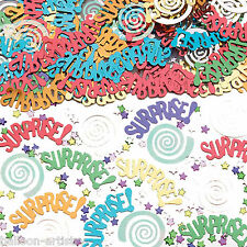 2 Bags SURPRISE Birthday Party Swirl Foil Confetti Table Sprinkles
