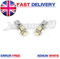 2 x LED Light Bulbs Capless 501 W5W Car Front Sidelight 12v T10 Canbus WHITE