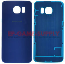 For Samsung Galaxy S6 Battery Cover Rear Door Back Glass Blue
