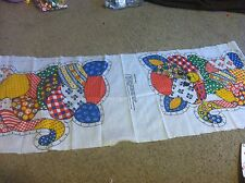 """Nice vintage Kitty Cat  fabric panel doll 18"""" cloth make your own Cute!!"""