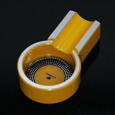 Neu COHIBA Gelb Mini Titanium Alloy Cigar Ashtray Holder Zigarre Aschenbecher